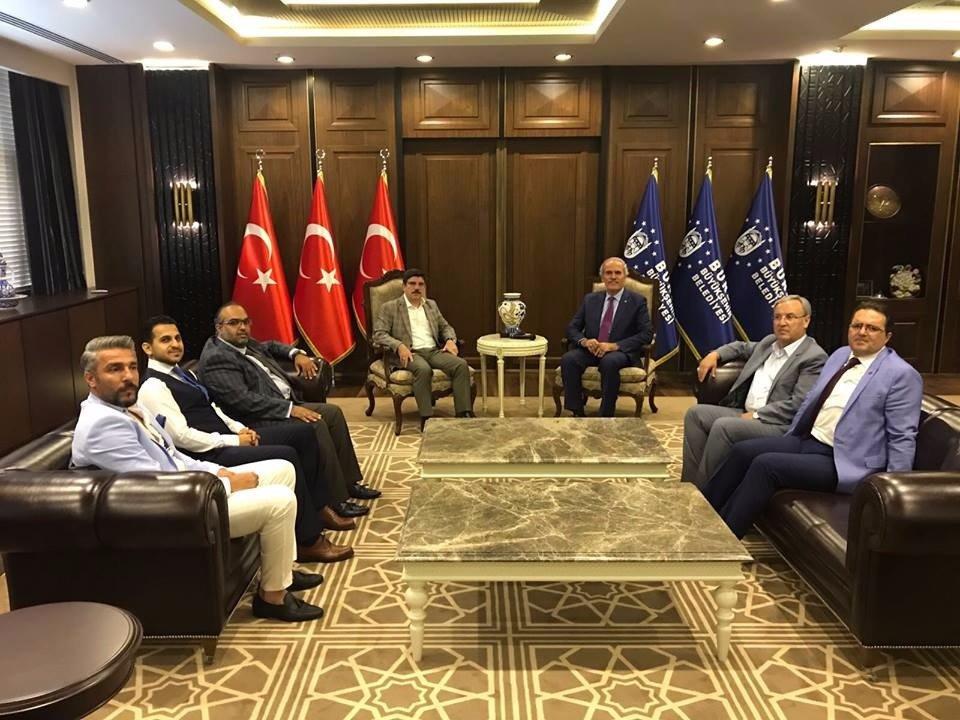 اجتماع المدير العام مع رئيس بلدية بورصة السيد رجب التبه